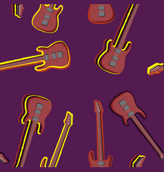 seamless texture electric guitar musical vector image