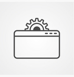 settings icon sign symbol vector image