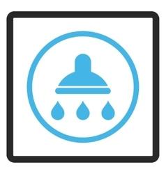 Shower Framed Icon vector