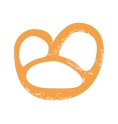 single pretzel icon vector image
