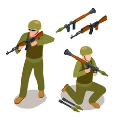 Special forces soldiers and military weapons vector