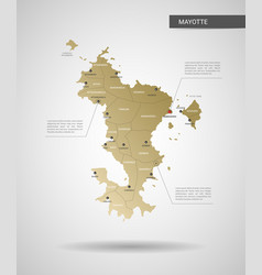 stylized mayotte map vector image