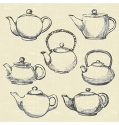teapots antique vector image