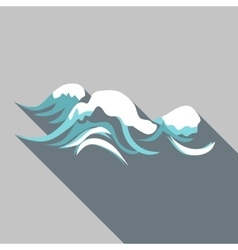 Tenth wave icon flat style vector