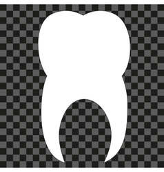 Tooth black and white Icon silhouette vector image