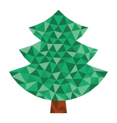 triangular tree vector image