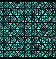 Turquoise seamless kaleidoscope pattern vector