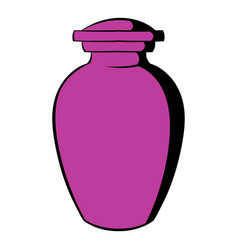 urn for ashes icon icon cartoon vector image