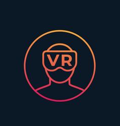 Vr virtual reality icon vector
