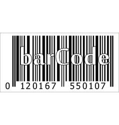 barcode of the product vector image vector image