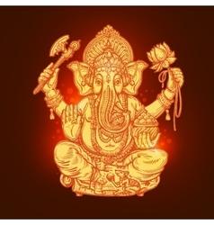 Beautiful card with God Ganesha vector image