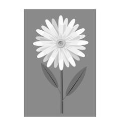 Honey flower icon gray monochrome style vector