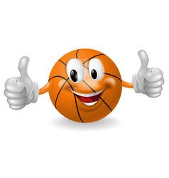 basket ball mascot vector image