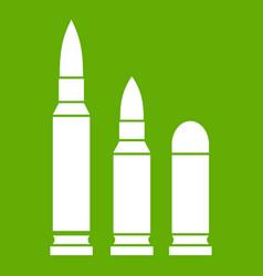 bullets icon green vector image vector image