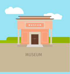 colored museum building vector image vector image