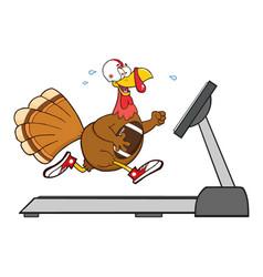 football turkey bird cartoon character vector image vector image