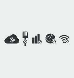 no internet connection icon vector image