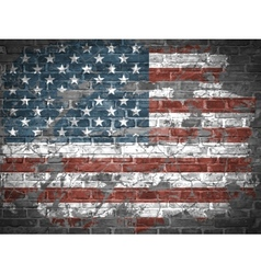 old American flag vector image