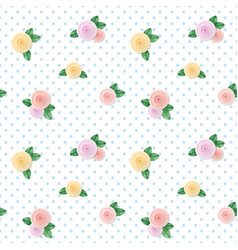 vintage seamless pattern with colorful roses on vector image vector image