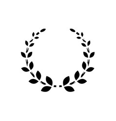 wreath icon black sign on vector image