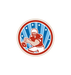 American Football QB Throwing Circle Retro vector image vector image