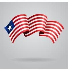 Liberian waving Flag vector image vector image