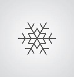 snowflake outline symbol dark on white background vector image vector image