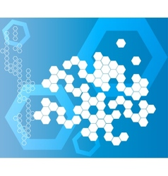 Abstract Hexagonal Shapes Background blue vector image