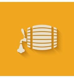 beer barrel background vector image