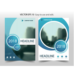 blue abstract circle brochure flyer annual report vector image vector image