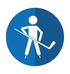 character hockey player skating shadow vector image vector image