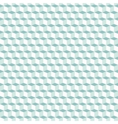Cubes pattern in blue vector image vector image