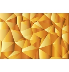 Gold-Abstract polygonal background Triangles vector image vector image