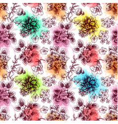hand drawn seamless pattern with vector image vector image