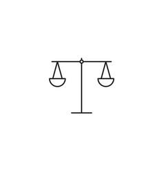 libra line icon on white background vector image