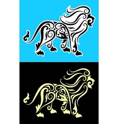 Lion cutting sticker vector image vector image