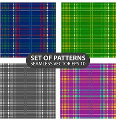set of 4 abstract seamless patterns vector image vector image