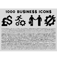 1000 Flat Business Icons vector