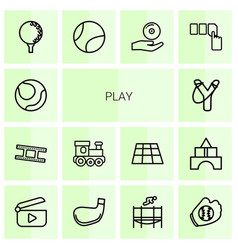 14 play icons vector