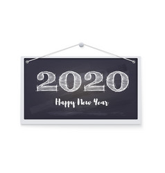 2020 happy new year greeting card festive vector image