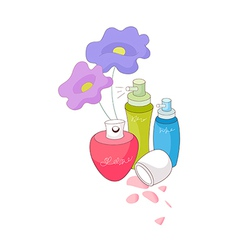 A view of perfumes vector image