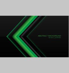 Abstract green metallic arrow direction on black vector