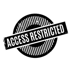 Access Restricted rubber stamp vector
