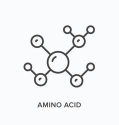 Amino acid flat line icon outline vector