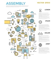 Assembly Vertical Infographic vector