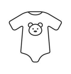 Baby bodysuit linear icon vector