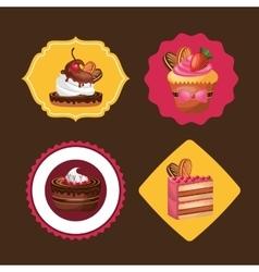 Baked goods daily fresh vector