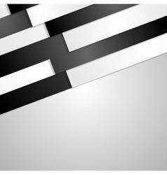 Black and white paper stripes design vector