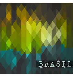 Brasil 2014 World soccer championship abstract vector image