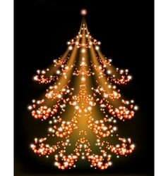 Brilliant Christmas tree with a star EPS10 vector image